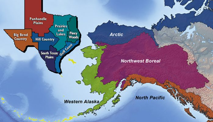 Regions of Texas and Alaska