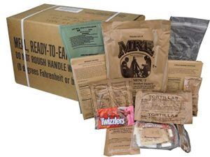 MREs (Meals Ready-to-Eat) Box A, Genuine U.S. Military Surplus, Menus 1-12
