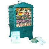 VermiHut 5-Tray Worm Compost Bin - highest rated in worm factory reviews