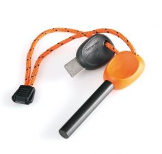 Light My Fire Swedish FireSteel 2.0 Army 12,000 Strike Fire Starter with Emergency Whistle – Orange